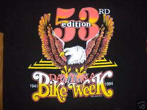 vtg 1994 Daytona Beach BIKE WEEK t shirt 53rd Edition M