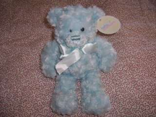 Adventure Minky Swirl Plush Blue Teddy Bear Lovey Boy Soft Stuffed