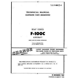 North American Aviation F 100 C Aircraft Parts Manual