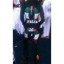 BELLA ITALIAN ANGEL WINGS CRYSTAL CROSS OUTFIT
