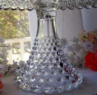 ANTIQUE DUNCAN & MILLER GLASS PEDESTAL CAKE STAND PLATE / GIANT