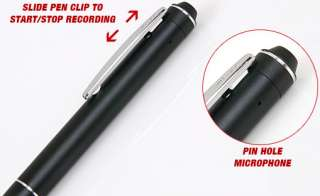 36 hr Pen Voice Recorder Hidden Audio Spy Recording