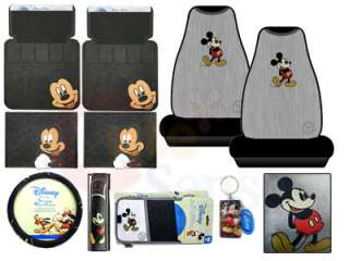 Mickey Mouse Car Seat Covers Auto Accessories Set  9PC