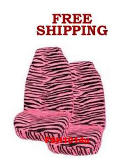 new black and pink zebra car truck bucket seat cover