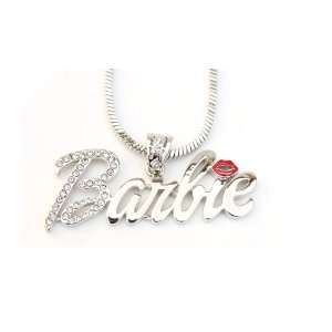 Iced Nicki Minaj Barbie French Pendant with Red Kiss