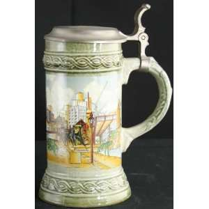 Vintage German Barware Ceramic Beer Stein Gerz Berlin