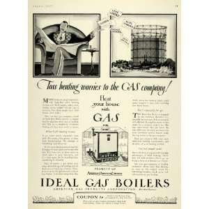 1927 Ad American Radiator Home Gas Boiler Heating NY