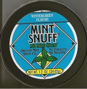 Mint Snuff Tobacco Free Chew Wintergreen Flavor