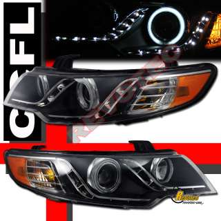 EYE CCFL LED STRIP R8 PROJECTOR HEADLIGHTS FOR 10 11 12 KIA FORTE KOUP