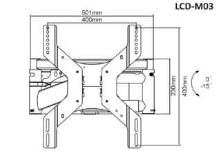 Plasma TV Motorized Remote Controller Slim Line Tilt Bracket 32 to 42