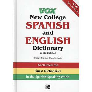 College Spanish and English Dictionary English Spanish/Espanol Ingles