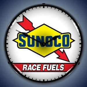 Sunoco Race Fuel Lighted Clock