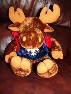 Dan Dee Collectors Choice Plush Holiday Moose Doll 15