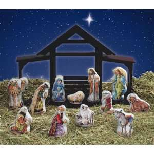 Nativity Figurines Counted Cross Stitch Kit: Home & Kitchen