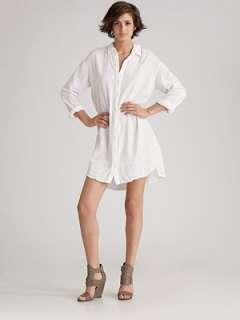 James Perse   Oversize Boyfriend Shirt Dress