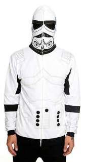 Star Wars Imperial Stormtrooper Zip Full Mask Hood Hoodie Licensed
