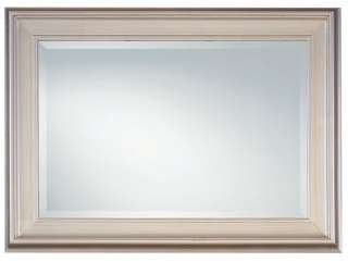 Large Framed Silver Leaf WALL MIRROR 25x29 Rectangle