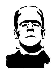 PopScreen - Video Search  Bookmarking and Discovery EngineFrankenstein Head Silhouette