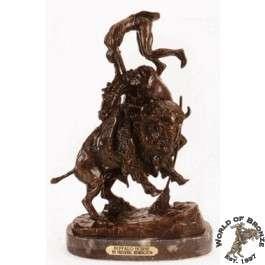 BUFFALO HORSE  by Frederic Remington Bronze Handcast Sculpture w