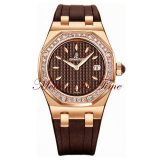 Royal Oak Ladies Diamond Rose Gold Chocolate REF# 67621OR