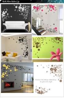 Large Butterfly Flower Art Wall Stickers / Wall Decals
