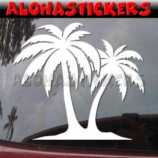 PALM TREES Hawaii Vinyl Decal Truck Window Sticker H76