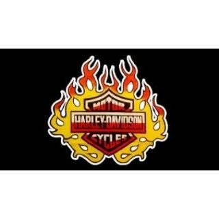 Harley Davidson Crest Flag