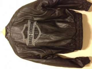 Authentic Harley Davidson Genuine Heavy Leather Jacket   Mens Small