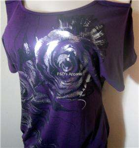 Womens Lavish Maternity Purple Shirt Top Blouse S M L X