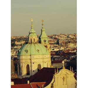 and Towers of St. Nicholas Church, Mala Strana, Prague, Czech Republic
