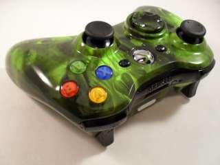 GREEN SKULLS XBOX 360 CONTROLLER RAPID FIRE MOD MODDED COD MODERN