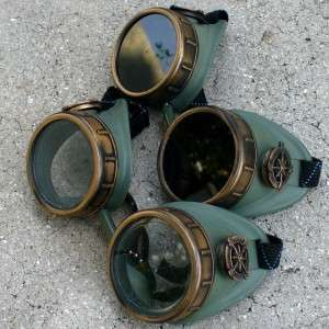 Goggles Glasses lens Victorian biker pirate Aviator motorcycle compass