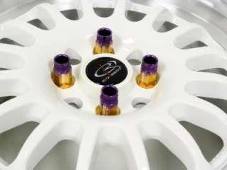 16 PC LIGHT WHEEL RACING LUG NUTS 12X1.5 PURPLE GOLD