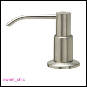 SOAP PUMP Dispenser BRUSHED NICKEL Kitchen SINK or BATH
