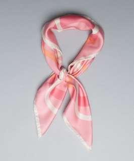 Salvatore Ferragamo pink gancio print silk scarf