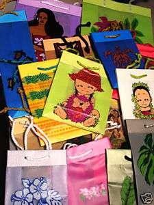 Hawaiian Gift Wrap Bags Luau Party Supplies New 20 Lot