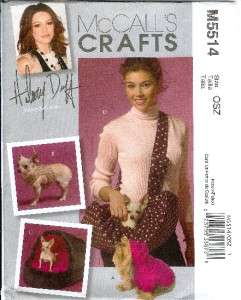 McCalls Craft Pet Dog/Cat Bed/Clothes Sewing Pattern +