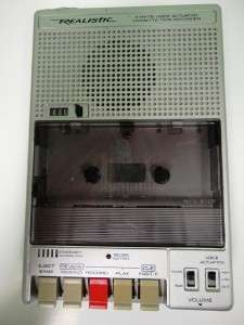 CTR 75 Voice Actuated Cassette Tape Recorder Used Working