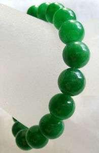 Green Jade Beads Tibet Buddhist Prayer Mala Bracelet