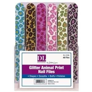 Glitter Animal Print Nail Files (Pack of 48)