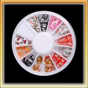 Stylish Animal Decoration Nail Art Sticker 12 Colors One
