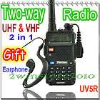 dual band UHF VHF Portable two Way radios Walkie Talkie