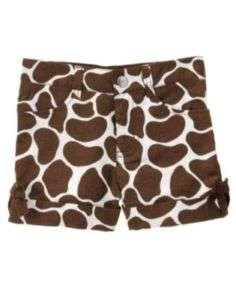 Gymboree SAFARI FASHION Giraffe Print Shorts NWT 6