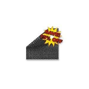20 x 40 Rectangle 12 mil Transparent Black Solar Covers