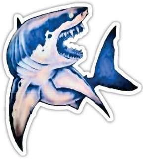 SHARKY DECAL STICKER SHARK SURF BOAT