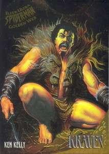 FLEER ULTRA SPIDER MAN 1995 GOLDEN WEB INSERT CARD 4 OF 9 KRAVEN