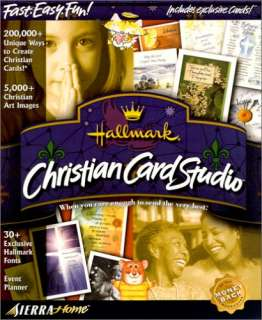 Card Studio PC CD make religious Bible greeting cards program