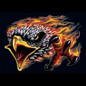 SCREAMING EAGLE FLAMES HARLEY BIKER T SHIRT M TO 5X