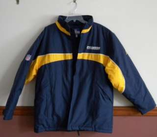 San Diego Chargers Football Jacket Coat NFL Team Apparel Mens Size L