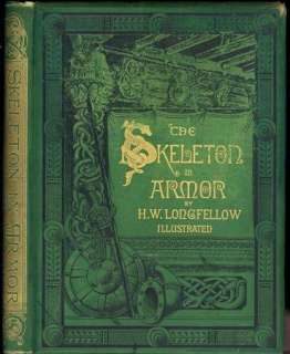 1877 THE SKELETON IN ARMOR BY H.W. LONGFELLOW   ILLUSTRATED POETRY
